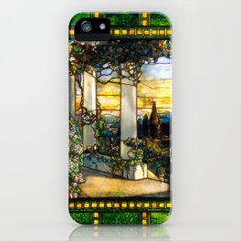 """Louis Comfort Tiffany """"Howell Hinds House Window"""" iPhone Case"""