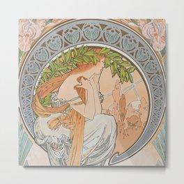 Alphonse Mucha (Alfons Mucha) abst-57 Metal Print