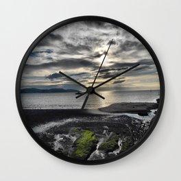 Cloudy Paignton Beach Wall Clock