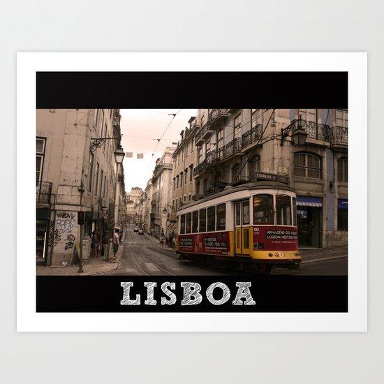 LISBOA STREETCAR Art Print