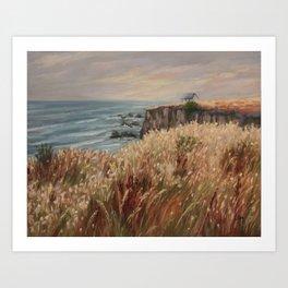 Wild coast of Croisic Art Print