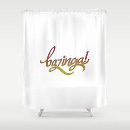 Bazinga! Shower Curtain