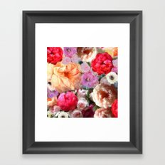 Peony Boquet Framed Art Print