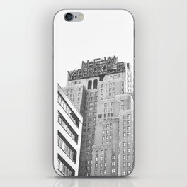 New Yorker Sign - NYC Black and White iPhone Skin