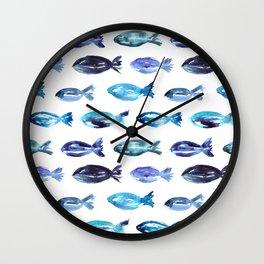 Sardines swimming to Sardegna Wall Clock