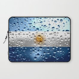 Flag of Argentina - Raindrops Laptop Sleeve