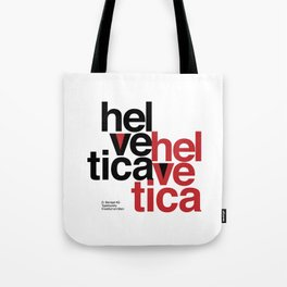 Suisse Swiss Helvetica Type Specimen Artwork in White Tote Bag