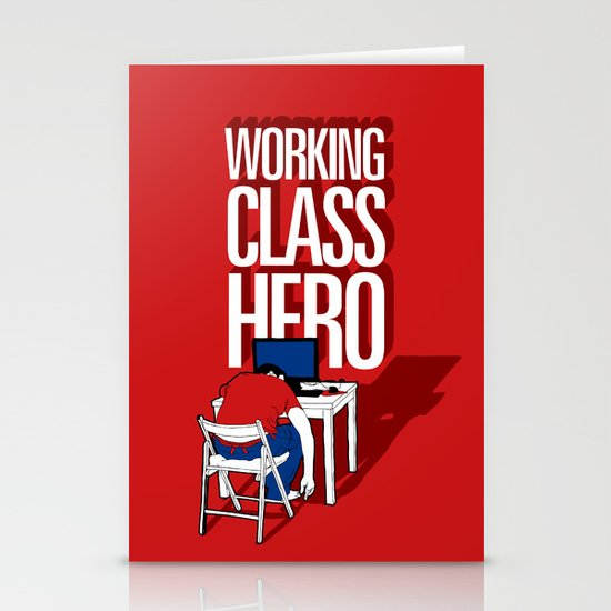 Working Class Hero Stationery Cards