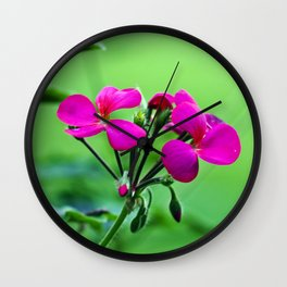 PINK Blossoms before GREEN Wall Clock