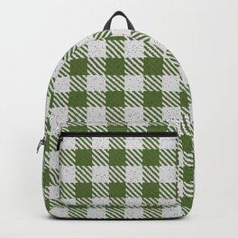 Dark Olive Green Buffalo Plaid Backpack