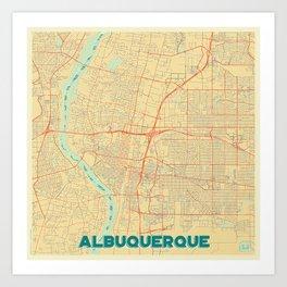 Albuquerque Map Retro Art Print