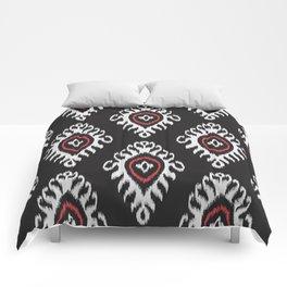 IKAT pattern 01, black Comforters