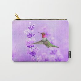 Anna's Hummingbird in Field of Lavender Carry-All Pouch