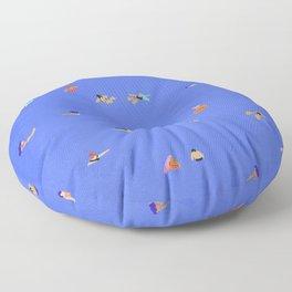 Electric blue Floor Pillow