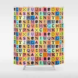 Chicks&Type Pattern SMALL Shower Curtain