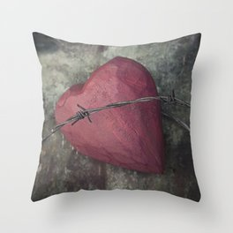 Trapped Heart III Throw Pillow