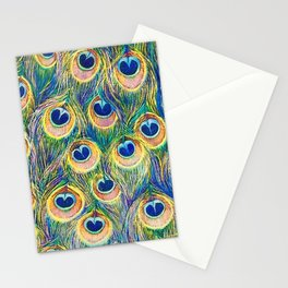 Peacock Freathers Stationery Cards
