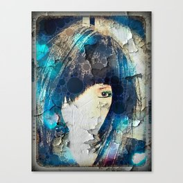 I'm with Wig Blue Canvas Print