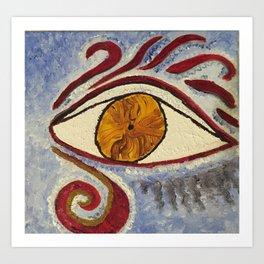 """Eye Mimic Horus"" Art Print"
