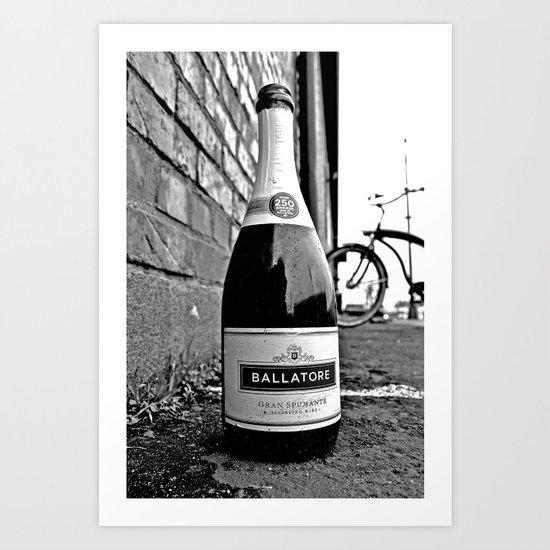 No more wine Art Print