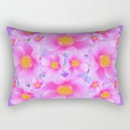 Lilac Purple & Pink Roses Rectangular Pillow