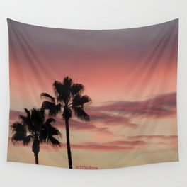 Atmospherics Number 3: Two Palms in the Sunset Wall Tapestry
