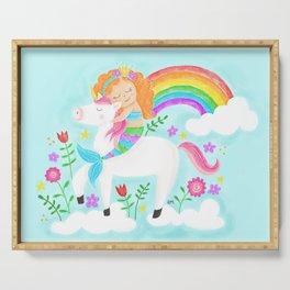 Unicorns, Mermaids & Rainbows...Oh My! Serving Tray