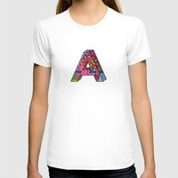 letter T-shirts featuring Letter A by Stefan Stettner
