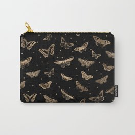 Butterfly pattern black and gold Carry-All Pouch