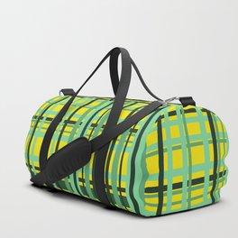 Checkered yellow green Design Duffle Bag