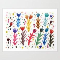 Abstract Flower Pattern Art Print