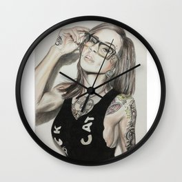 Inkd Girlz series (Madzilla) Wall Clock