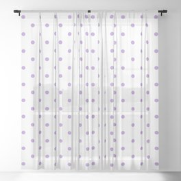 Dotted (Lavender & White Pattern) Sheer Curtain