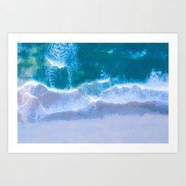 Emerald Blue Water Art Print
