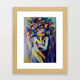 And then were the butterflies Framed Art Print