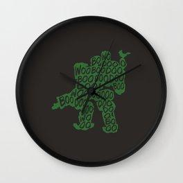 Bastion Typography illustration Wall Clock