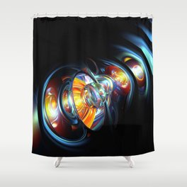 Abstract Spheres And Gravitational Waves 3D Ultra HD Shower Curtain