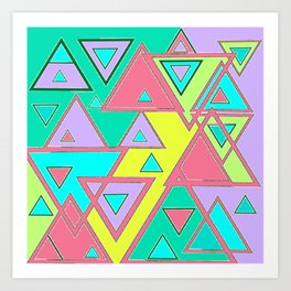 Colorful triangles Art Print