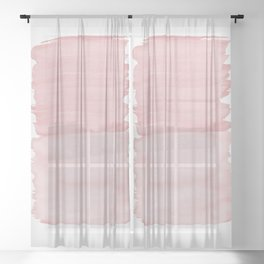 Blush Abstract Minimalism #1 #minimal #ink #decor #art #society6 Sheer Curtain