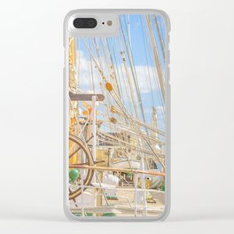 Sailing Ship Naval School Parked at Port Clear iPhone Case