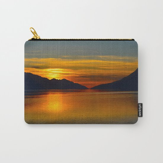 Alaskan Sunset Silhouette - Turnagain Arm Carry-All Pouch
