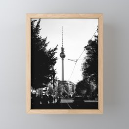 Berlin's streets in black and white 3 Framed Mini Art Print