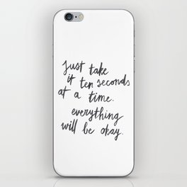 Ten Seconds At A Time iPhone Skin