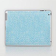 Hand Knit Sky Blue Laptop & iPad Skin