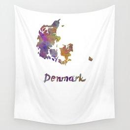 Denmark in watercolor Wall Tapestry