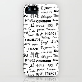 Thank you pattern iPhone Case
