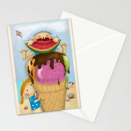 The pleasure of being twin Stationery Cards