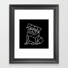 Origami Pug Framed Art Print