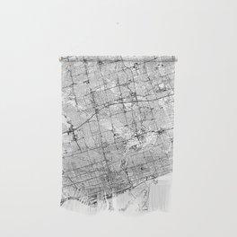 Toronto White Map Wall Hanging