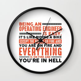 Being a Hairdresser Is Easy Shirt Everything On Fire Wall Clock